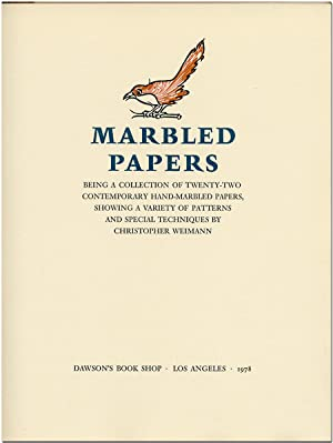 MARBLED PAPERS BEING A COLLECTION OF TWENTY- TWO CONTEMPORARY HAND-MARBLED PAPERS, SHOWING A VARI...