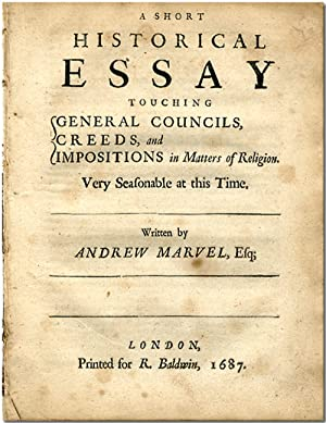 A SHORT HISTORICAL ESSAY TOUCHING GENERAL COUNCILS,: Marvell, Andrew