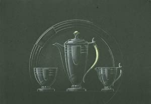 [ORIGINAL DESIGN FOR ART DECO SILVER COFFEE SET]