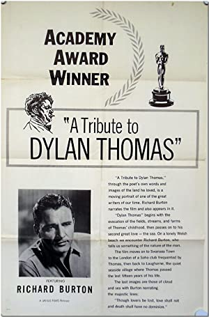 Original One Sheet Publicity Poster for the Documentary A TRIBUTE TO DYLAN THOMAS
