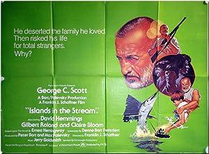 British Quad Publicity Poster for ISLANDS IN: Hemingway, Ernest (sourcework):