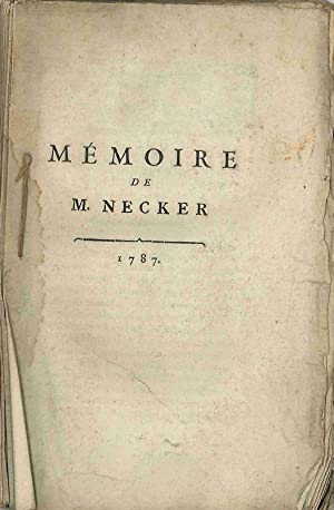 MÉMOIRE DE M. NECKER [half-title caption]