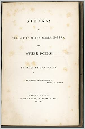 XIMENA; OR THE BATTLE OF SIERRA MORENA, AND OTHER POEMS
