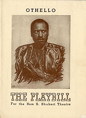 OTHELLO THE PLAYBILL FOR THE SAM S. SHUBERT THEATRE [wrapper title]