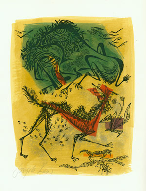 A FOX & A SICK LION. NO.: L'Estrange, Roger [trans]