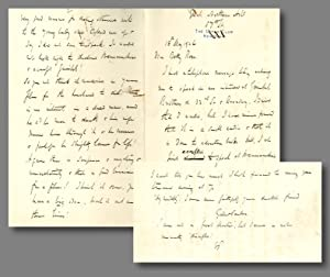 [Series of 12 Autograph Letters, Signed (Six with Initials), Two Dictated Letters, Signed, and On...