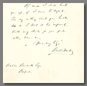 [Fragment of Autograph Letter, Signed]
