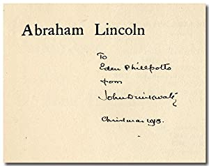 ABRAHAM LINCOLN A PLAY