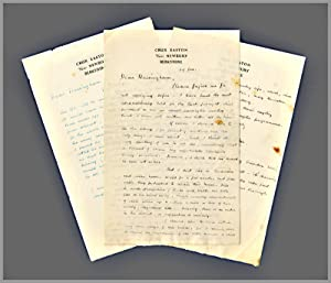 [Two Original Autograph Letters, Signed, to Harold J. Massingham]