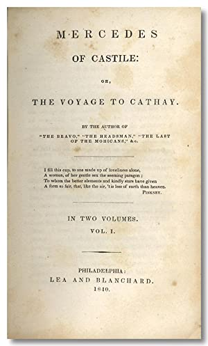 MERCEDES OF CASTILE: OR, THE VOYAGE TO: Cooper, James F.]