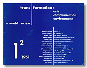 TRANSFORMATION ARTS, COMMUNICATION & ENVIRONMENT A WORLD REVIEW