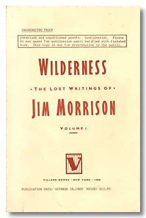 WILDERNESS THE LOST WRITINGS OF . VOLUME I.