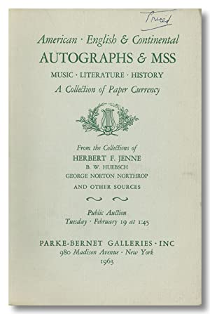 IMPORTANT AMERICAN & OTHER AUTOGRAPHS & MANUSCRIPTS . SIGMUND FREUD LETTERS D. H. LAWRENCE MSS AN...