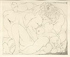 Original Drypoint Etching] LE VIOL III (L'ETREINTE: Picasso, Pablo: