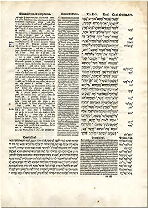 THE GREAT POLYGLOT BIBLES INCLUDING A LEAF: Allen Press]: Hall,