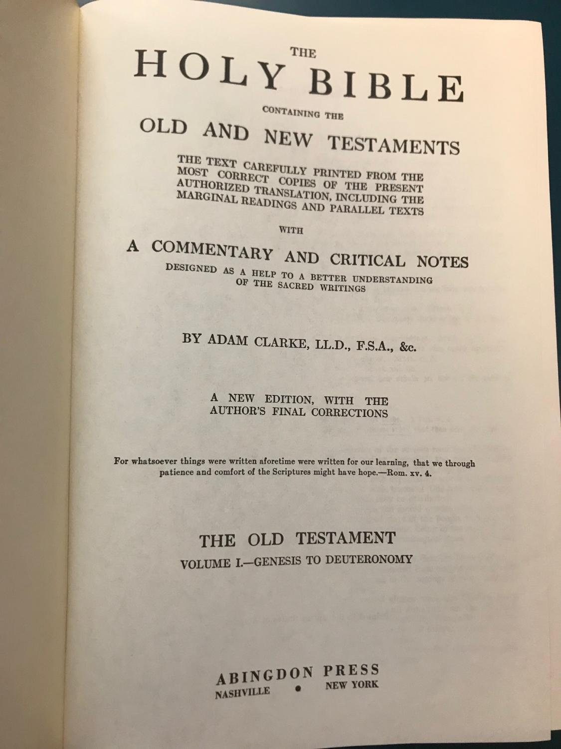 Clarke's Commentary: The Holy Bible,