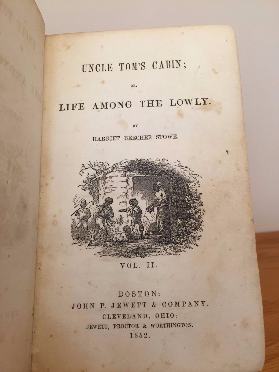 Uncle tom 39 s cabin volumes i ii true 1st edition by for Uncle tom s cabin first edition value
