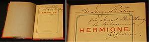 """Hermione. Sorgspel. Af författaren till """"I Rom"""": STRINDBERG, AUGUST)"""