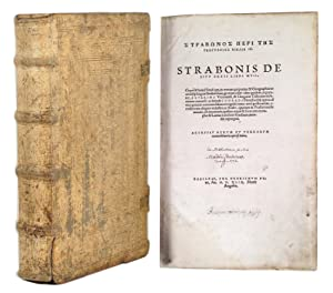 STRABONOS PERI TES GHEOGRAPHIAS BIBLIA 17 [=greek: STRABO.