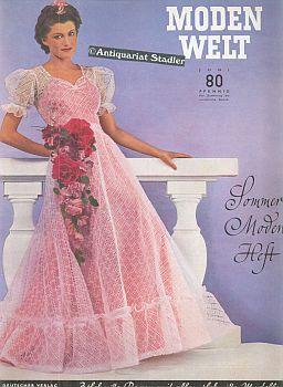 Modenwelt. 3. Jahrgang. Heft 6. Juni 1939.: Modezeitschrift: