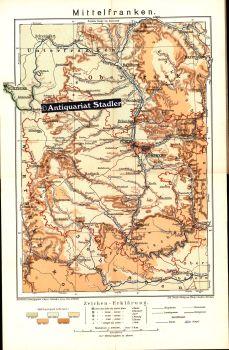 Mittelfranken Karte.Karte Von Mittelfranken Von Nüchter Zvab