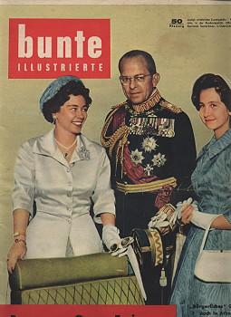 "bunte Illustrierte. Nr. 121 vom 22. März 1958. Titelthema u.a.: ""Bormann - Graue Eminenz ..."