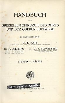 Handbuch Der Speziellen Chirurgie Des Ohres Der Oberen Luftwege ...