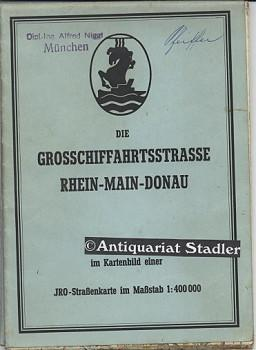 Grosschiffahrtsstrasse Rhein-Main-Donau im Kartenbild einer IRO-Straßenkarte im Maßstab...