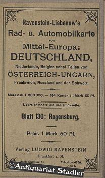 Ravenstein-Liebenow' s Special-Rad- und Automobil-Karte von Mitteleuropa: Blatt 130: ...