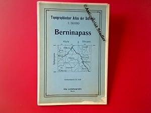 Topographischer Atlas der Schweiz. Berninapass.: Landkarte: