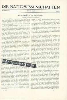 20. Jahrg. 1932.: Naturwissenschaften, Die.: