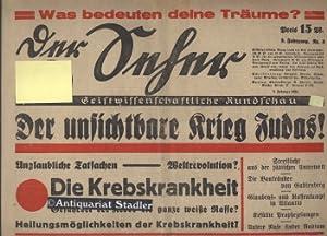 Der Seher. Geistwissenschaftliche Rundschau. 3.Jahrgang Nr. 3. 8. Februar 1934.: Ebertin, Reinhold: