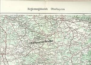 Regierungsbezirk Oberbayern Straßenkarte.: Hauptvermessungsabt. XIII München: