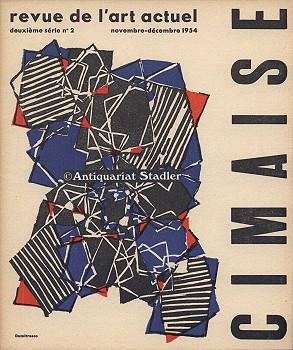 Cimaise. Revue de l'art actuel. deuxieme serie numero 2. novembre-decembre 1954. In franz&ouml...