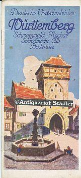 Deutsche Reisebücher. Württemberg. Deutschland, Neckar, Schwarzwald, Schwäb. Alb, ...