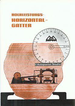Hochleistungs-Horizontal-Gatter. Firmenprospekt.: Paul und Eugen Mayer Maschinenfabrik, Böblingen: