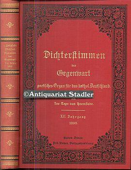 Dichterstimmen der Gegenwart. Poetisches Organ für das katholische Deutschland. XII. Jahrgang....
