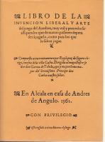 Libro de la invención liberal y arte: López de Sigura,