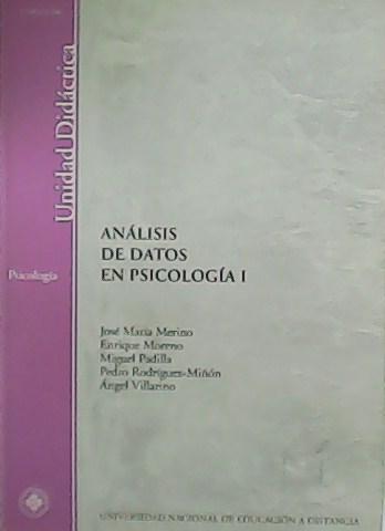 Análisis de datos en Psicología I. - VV. AA.-
