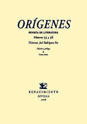 ORÍGENES. Revista de literatura. Números 35 y: RODRÍGUEZ FEO, José