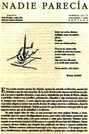 NADIE PARECÍA, nº12-13 (último). Dirigen: José Mateos,