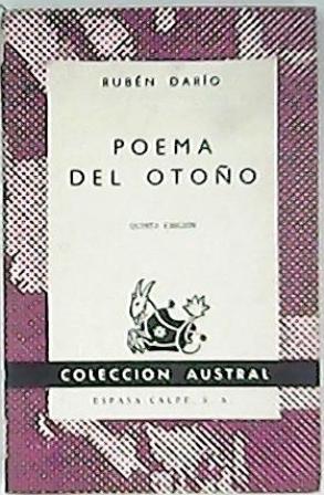 Poema del otoño y otros poemas.: DARÍO, Rubén.-