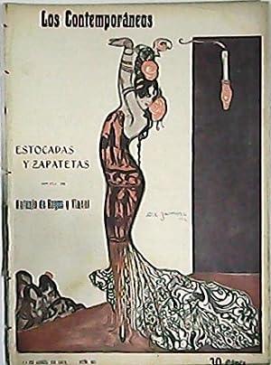 Estocadas y zapatetas. Novela taurina. Ilustr. de José Zamora.: HOYOS Y VINENT, Antonio de.-