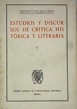 Obras completas. Estudios y discursos de crítica: MENENDEZ PELAYO, Marcelino.-