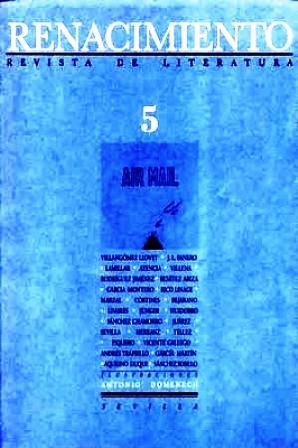 RENACIMIENTO, nº5.- Revista de Literatura. Director: Felipe