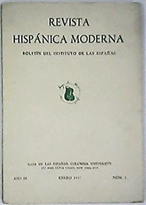 REVISTA HISPÁNICA MODERNA, Año III, nº2. Boletín
