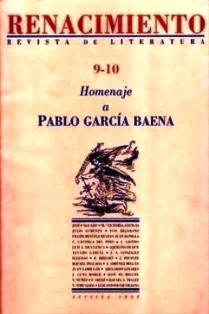 RENACIMIENTO, nº9-10.- Revista de Literatura. Homenaje a