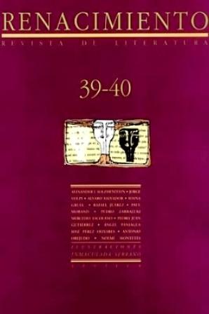 RENACIMIENTO, nº39-40.- Revista de Literatura. Dirigida por
