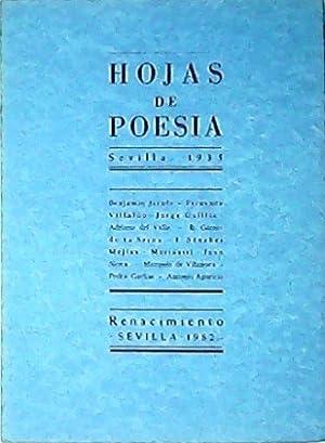 HOJAS DE POESÍA (Sevilla, 1935). Edición facsímil.