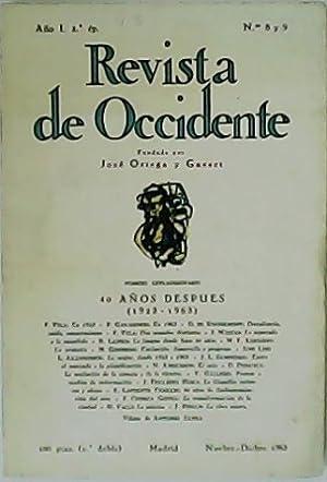 REVISTA DE OCCIDENTE, nº8 y 9. Año